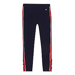 J by Jasper Conran - 'Girls' navy contrasting side panel leggings