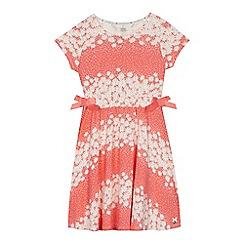 J by Jasper Conran - 'Girls' coral floral print jersey dress