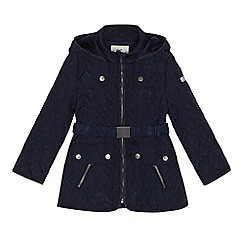 J by Jasper Conran - 'Girls' navy shower resistant coat