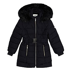 J by Jasper Conran - Girls' navy padded shower resistant coat