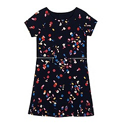 J by Jasper Conran - Girls' navy printed dress