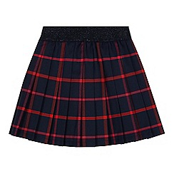 J by Jasper Conran - 'Girls' navy check print pleated skirt