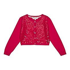 J by Jasper Conran - Girls' bright pink sequinned cardigan