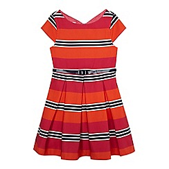 J by Jasper Conran - Girls' bright pink striped dress