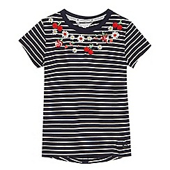 J by Jasper Conran - Girls' navy striped t-shirt
