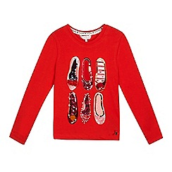 J by Jasper Conran - 'Girls' red sequinned ballet shoe top