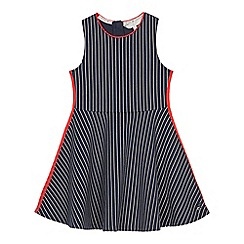 J by Jasper Conran - Girls' Navy Pinstripe Skater Dress