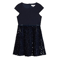 J by Jasper Conran - Girls' navy sequinned dress