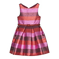 J by Jasper Conran - Girls' multicoloured shimmer striped dress