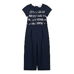 J by Jasper Conran - Girls' Navy Sequin Striped Jumpsuit
