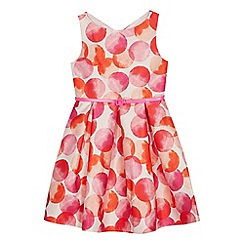 J by Jasper Conran - Girls' pink circle print dress