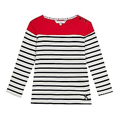 J by Jasper Conran - Girls' multicoloured Breton stripe colour block top