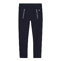 J by Jasper Conran - Girls' navy textured panel leggings