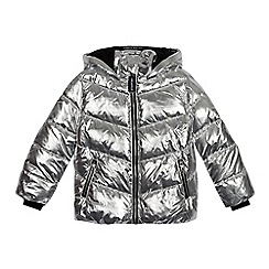 Pineapple - Girls' silver metallic padded coat