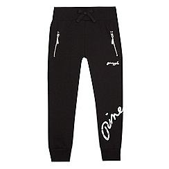 Pineapple - Girls' black logo print slim fit jogging bottoms