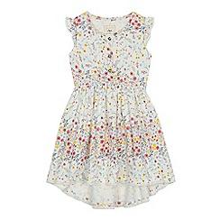 Mantaray - Girls' white floral print dress