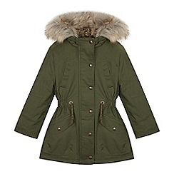 Mantaray - Girls' Khaki Shower Resistant Parka