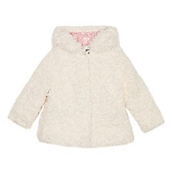 Mantaray - Girls' cream borg coat