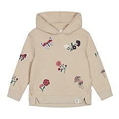 Mantaray - Girls' natural woodland embroidered hoodie