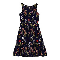 Mantaray - 'Girls' navy floral print dress
