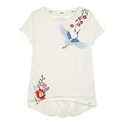 Mantaray - 'Girls' white embroidered t-shirt