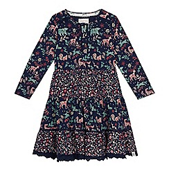 Mantaray - Girls' navy woodland floral print dress