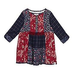 Mantaray - Girls' multicoloured patchwork print dress