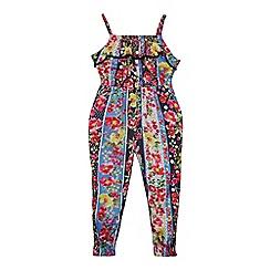 bluezoo - Girls' Multicoloured Floral Print Jumpsuit