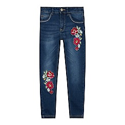 bluezoo - Girls' Blue Floral Embroidered Jeans