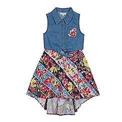 bluezoo - Girls' Multicoloured Floral Print Mock Dress