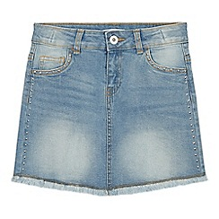 bluezoo - Girls' light blue studded denim skirt