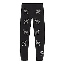 bluezoo - Girls' Black Zebra Hotfix Leggings