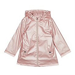 bluezoo - Girls' Pink Pearlised Raincoat