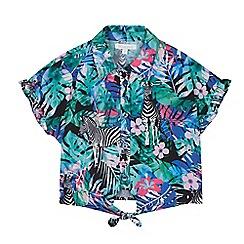 bluezoo - Girls' Multicoloured Floral Zebra Print Blouse