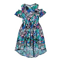 bluezoo - Girls' Multicoloured Zebra and Floral Print Dress