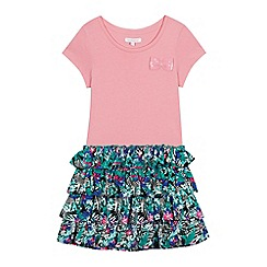 bluezoo - Girls' Pink Zebra Print Rara Dress