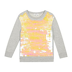 bluezoo - Girls' Grey Sequinned Sweater