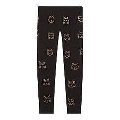 bluezoo - Girls' Black Cat Studded Leggings