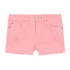 bluezoo - Girls' Bright Pink Neon Denim Shorts