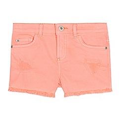 bluezoo - Girls' Coral Neon Denim Shorts