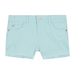 bluezoo - Girls' Aqua Neon Denim Shorts