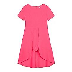 bluezoo - Girls' bright pink dipped hem playsuit