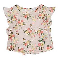 bluezoo - Girls' Pink Floral Print Blouse