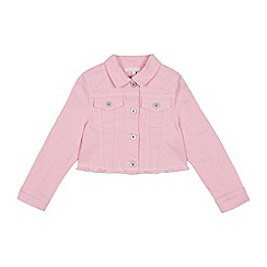 bluezoo - Girls' Pink Cropped Denim Jacket
