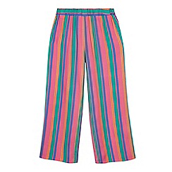 bluezoo - Girls' multicoloured striped wide leg trousers