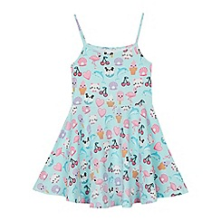 bluezoo - Girls' Aqua Sticker Print Dress