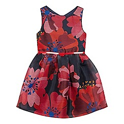 J by Jasper Conran - Girls' Multicoloured Floral Print Burnout Dress