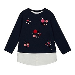 J by Jasper Conran - Girls' Navy Floral Applique Sweatshirt