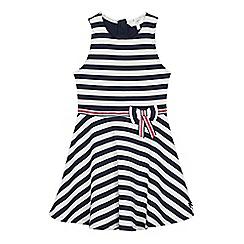 J by Jasper Conran - Girls' Navy Stripe Ponte Dress