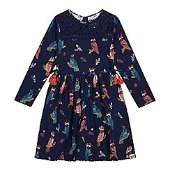 Mantaray - Girls' Navy Owl Print Jersey Dress